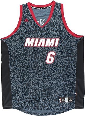 Amazon.com: adidas Lebron James Miami Heat #6 Black Crazy Light ...