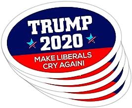 5 PackOval Car Magnet Trump 2020 Trump Make Liberals Cry Again TO439