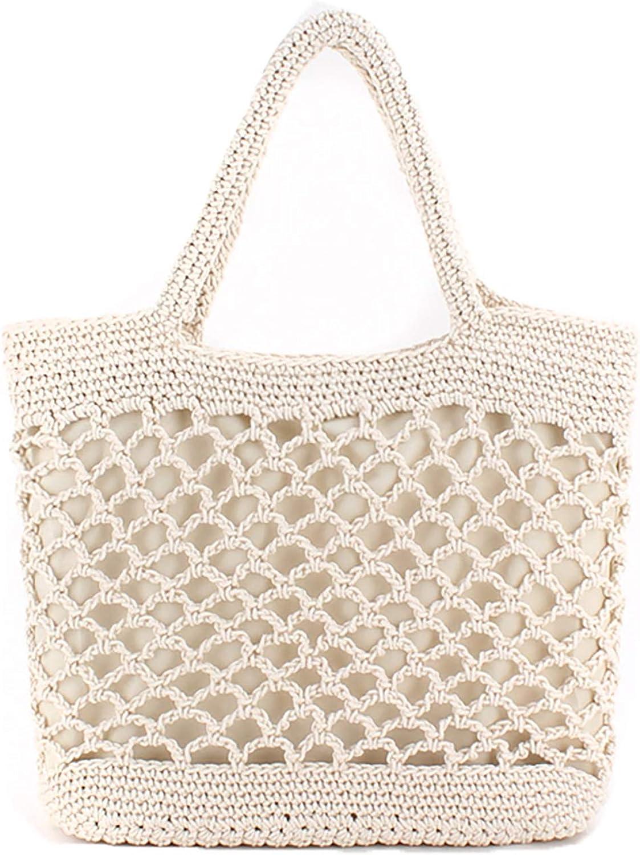 HENSEND Womens Hobo Purses And Handbags.Crochet Tote Fabric Handmade Handbag Woven Beach Tote For Women Clearance (White2)