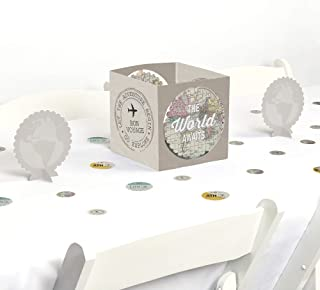 Big Dot of Happiness World Awaits - Travel Themed Party Centerpiece & Table Decoration Kit
