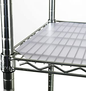 VKF Renzel USA Corp. PVC Shelf Liners for Wire Shelving, 4 Pack, Clear Shelf Liners, for Shelf Size 60