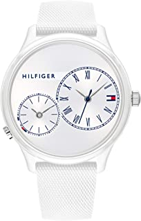 Tommy Hilfiger Women'S White Dial White Silicone Watch - 1782145