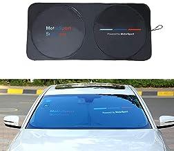 Public colore: nero Cadillac parasole per parabrezza auto con rivestimento in teflon Audi per BMW migliore effetto ombreggiatura rispetto al panno rivestito in argento Mercedes-Benz Yika