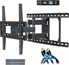"""$49 » Mounting Dream TV Mount Full Motion TV Wall Mounts for 26-55 Inch Flat Screen TV, Wall Mount TV Bracket with Dual Arms, Max VESA 400x400mm and 99 LBS, Fits 16"""", 18"""", 24"""" Studs MD2380-24K TV Mounts"""