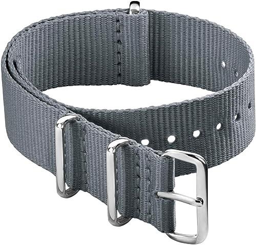 Archer Watch Straps - Bracelet de Montre Classique en Nylon de Style NATO   Choix De Couleur et de Taille (18mm,20mm,...