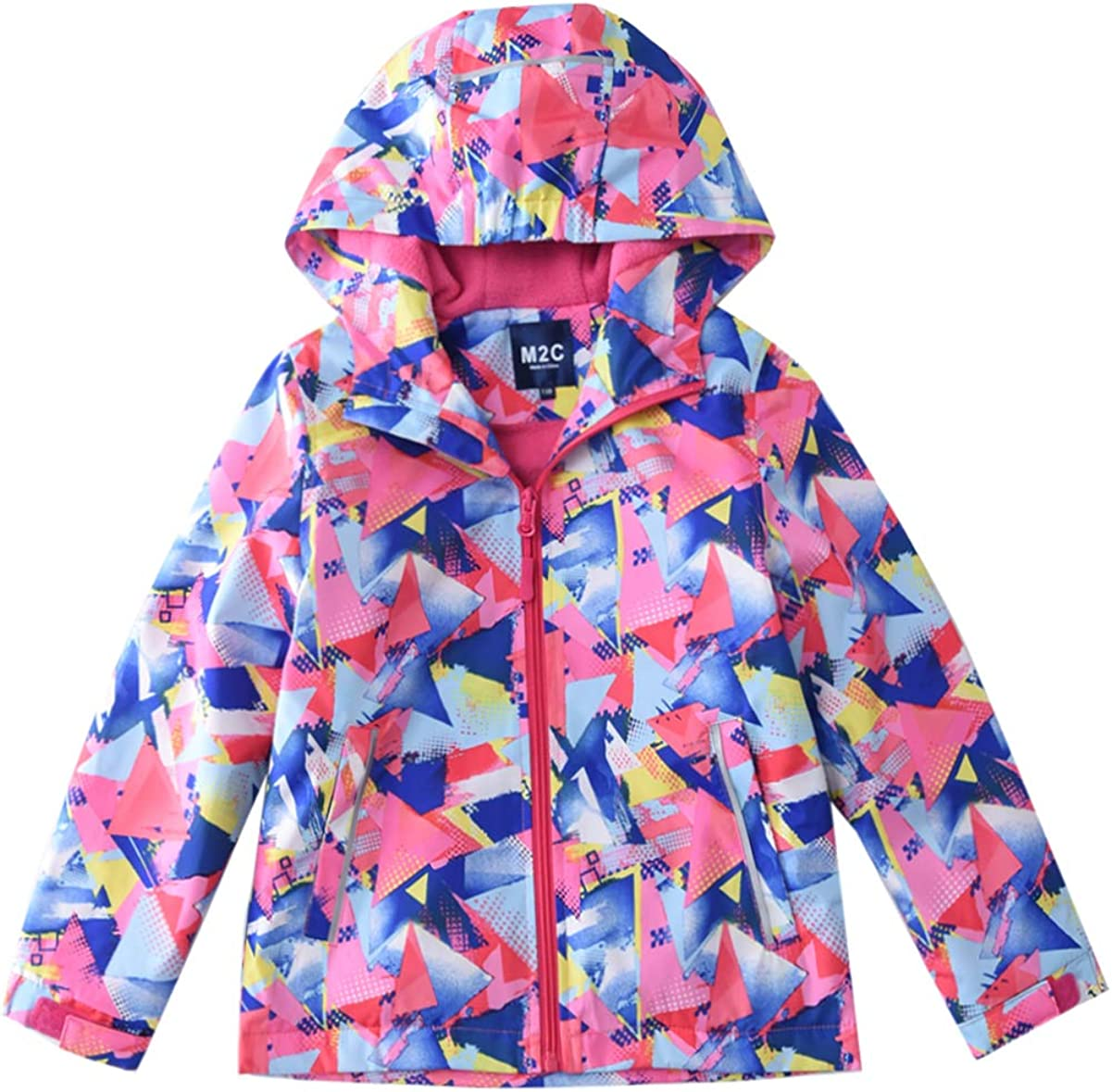 M2C Girls Hooded Fleece Limited time trial price Lined 1 year warranty Waterproof Jacket