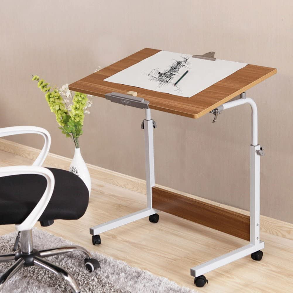 Adjustable Laptop Table Notebook Stand Portable Standing Bed Desk Foldable Sofa Breakfast Tray Mobile Desk fold Lift Write Learn Bedside Small Desk-A 60x40cm 24x16inch