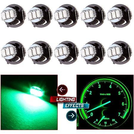 cciyu 20Pcs 4.7mm-12v Car Green Mini Bulbs Lamps Indicator Cluster Speedometer Backlight Lighting red