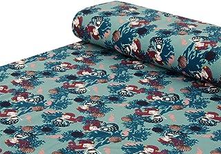 Blau Design von Littlearrowdesign Gedruckt auf Baumwoll Popeline Lila Individuell Bedruckt von Spoonflower Schuppen Stoffe Meerjungfrau