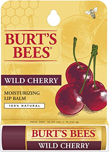 Burt's Bees Lip Balm, Wild Cherry, 1 Tube, 4.25 Grams