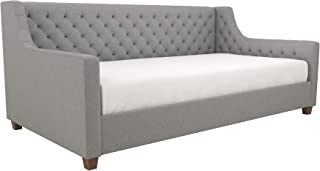 DHP Jordyn Diamond Tufted Upholstered Daybed/ Sofa Bed, Twin Size Frame, Gray Linen