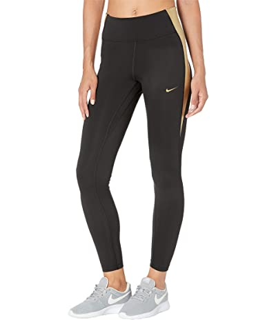 Nike One Tights Color-Block (Black/Black/Metallic Gold) Women