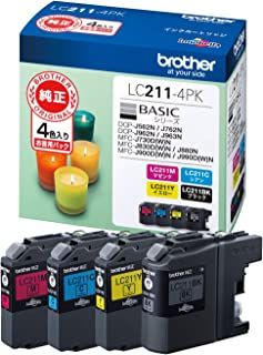 【brother純正】ブラザーインクカートリッジ4色パック LC211-4PK 対応機種:DCP-J968N/DCP-J567N/MFC-J887N/MFC-J730DN 他