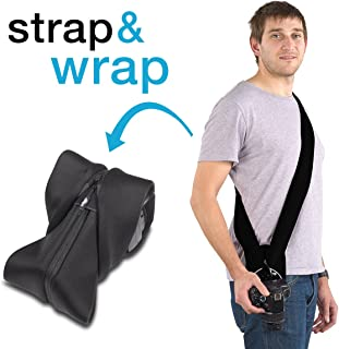 Miggo- Padded Camera Shoulder Neck Strap For Mirroless & DSLR Cameras, wrap the strap around the camera to protect it from...