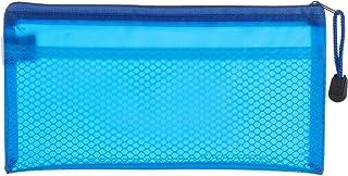 Fabric Pencil Case with Zipper, 12x23 cm - Blue