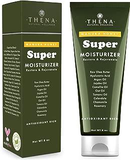 Manuka Honey Moisturizer Cream Face & Body Lotion For Dry Sensitive Skin Relief 8 oz, Organic Natural Skin Care Products, Anti aging Wrinkle Moisturizer Cream With Hyaluronic Acid Aloe Vera Women Men
