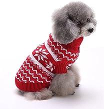 Fdit Socialme-EU Mascotas Ropa para Perros Copos de Nieve Impresos de Punto Su/éter Invierno C/álido Ropa de Navidad para Perros Peque/ños XS-Gris