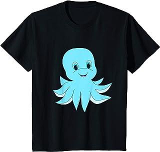 Enfant Cartoon Octopus Aquatic Animal Design T-Shirt