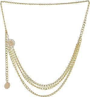 Aaishwarya Multi Layered Golden Alloy Waist Chain/Belt for Women and Teen Girls