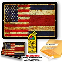 Costa Rica Country Flag vs USA Man Cave Metal Decor Tin Sign Indoor and Outdoor use 8
