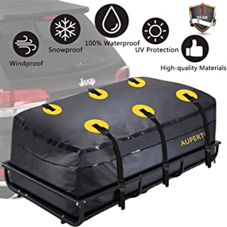 AUPERTO Cargo Bag, Waterproof Cargo Tray Bag 20 Cubic Feet Trailer Hitch Cargo Carrier Bag