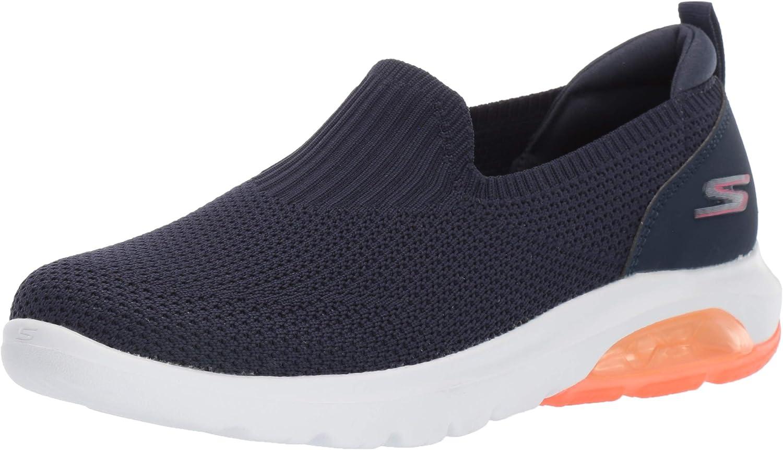 SKEAJ #Skechers Go Walk Air, Sneaker Donna Navy Textile Coral Trim Nvcl