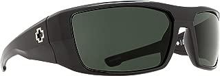 Dirk Polarized Wrap Sunglasses, Black/Happy Gray/Green Polar, 64 mm