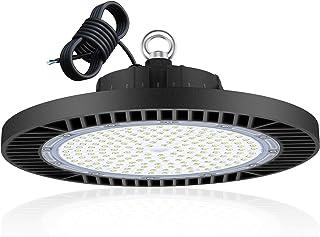 150W UFO High Bay Light,IP65 Projecteur LED.Blanc Froid 6000K LED Projecteur Interieur UFO Spot high bay lumière d'entrepô...