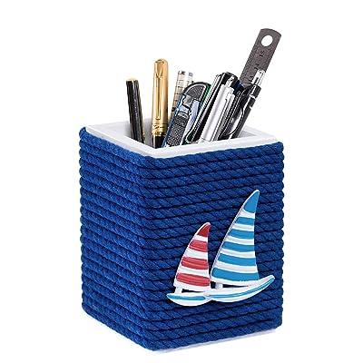 ALSISK Pen Holder-Nautical Theme,Wooden Handmad...