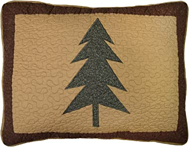 Donna Sharp Pillow Sham - Bear Pyramid Lodge Decorative Pillow Cover with Multicolored Pattern - Standard