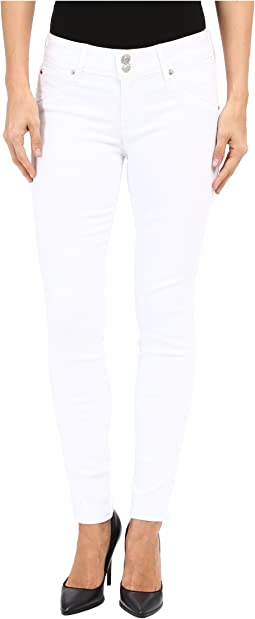 Hudson Collin Mid-Rise Ankle Skinny in White