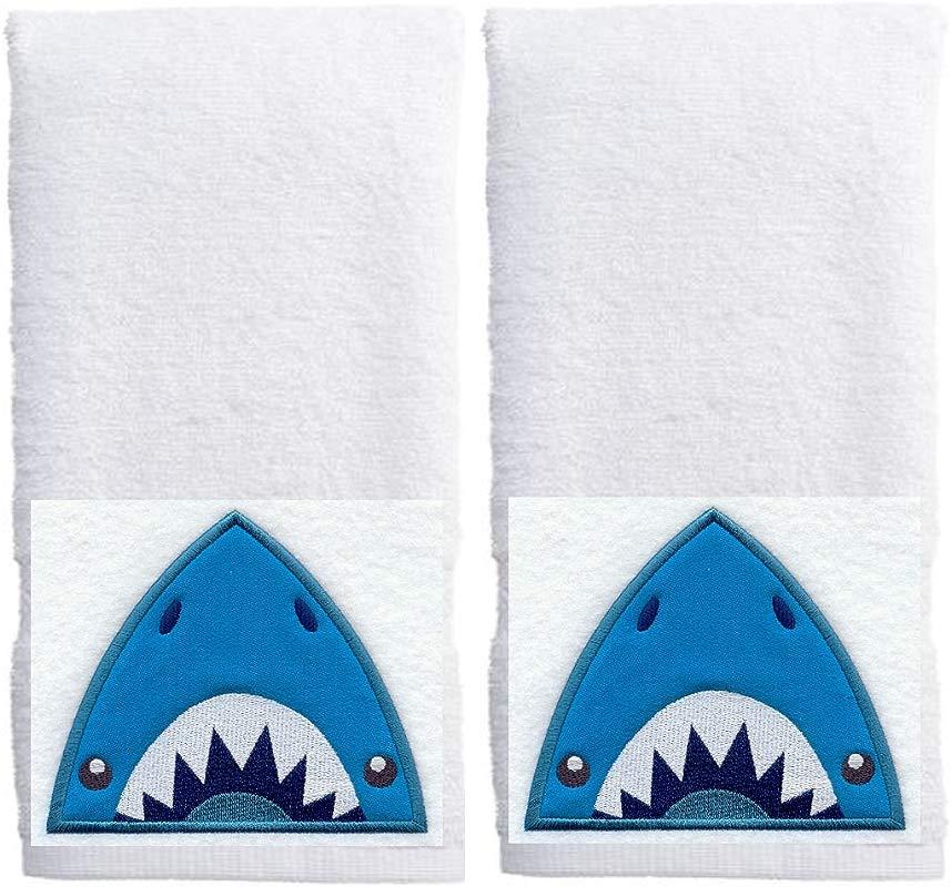Set Of 2 SHARK Hand Towels