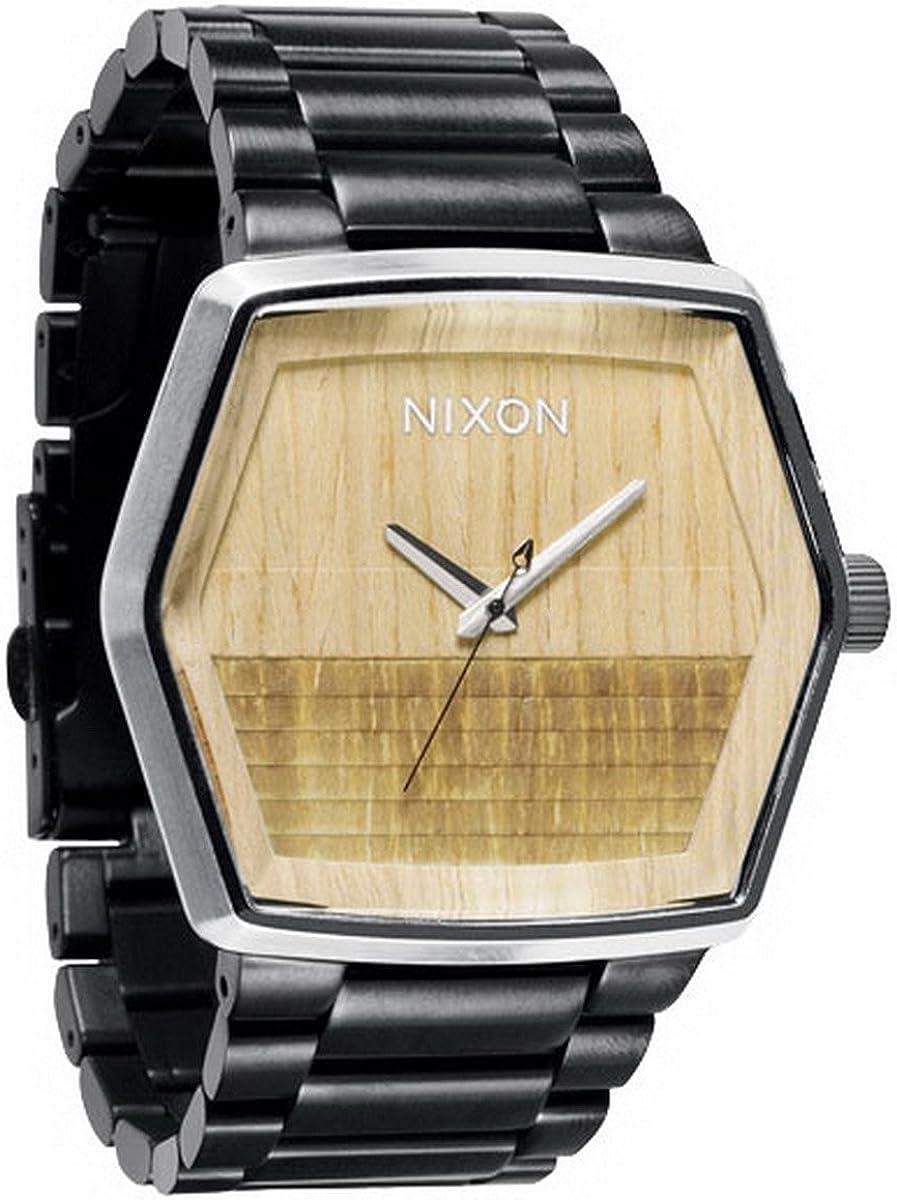 Nixon A018630-00 - Reloj analógico de Cuarzo para Hombre con Correa de Acero Inoxidable, Color Plateado