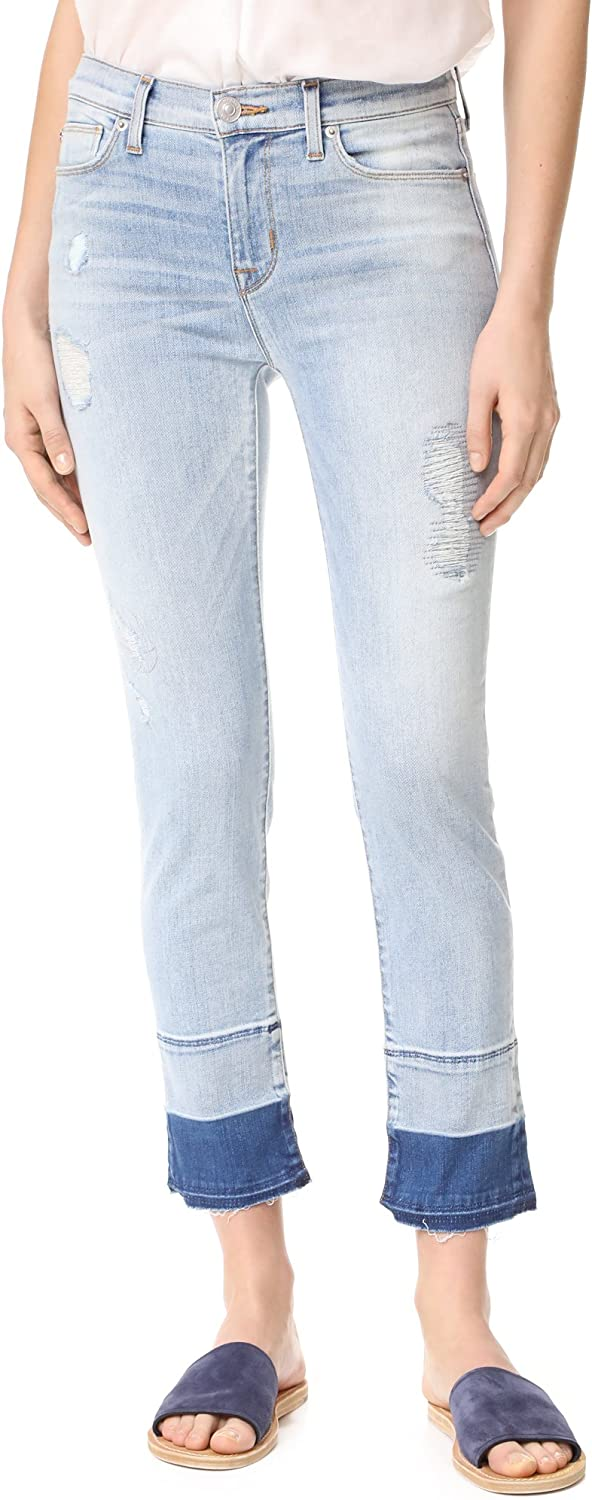 HUDSON Women's Zoeey Mid Rise Cropped Jeans