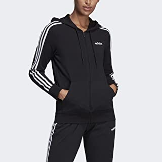 Women's Essentials 3-stripes Single Jersey Full-zip Hoodie