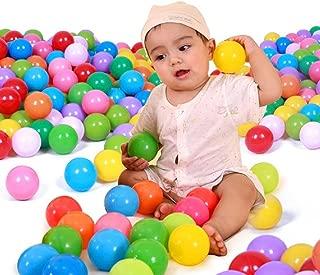 Mazhashop 超多い カラーボール 7色 500個入り 直径5.5cm 大きいサイズ 満足する【やわらか素材使用】 収納袋付