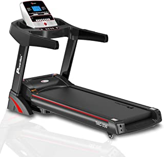 PowerMax Fitness TAC-330 3HP (6HP Peak) Motorized Treadmill with Free Installation Assistance, Home Use & Automatic Incline