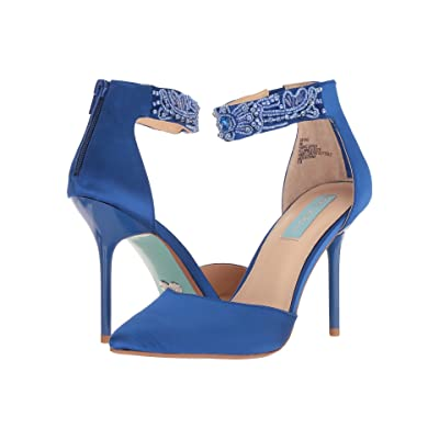 Blue by Betsey Johnson Kali (Blue Satin) High Heels