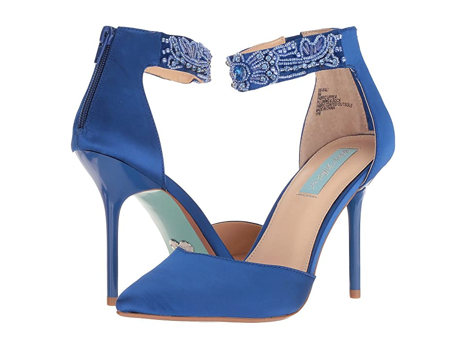 Blue by Betsey Johnson Kali (Blue Satin) High Heels