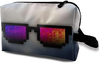 0df51ad3fd Bolsas de cosméticos de viaje Pixel Art Gafas de sol Bolsa de maquillaje  portátil de viaje