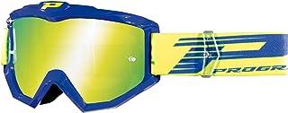 PROGRIP 3201FL Blau Brille mit kratzfester Linse, Multischicht, 3247 Gelb
