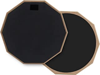 Drum Double Sided Practice Pad, 12 Inch Silent Drum Pad...