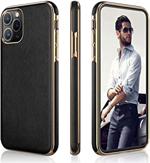 LOHASIC iPhone 11 Pro Case, Slim Fit Business PU Leather Elegant High-end Cover Anti-Slip Soft Grip Flexible Full Body Protective Phone Cases Compatible with Apple iPhone 11 Pro(2019) 5.8