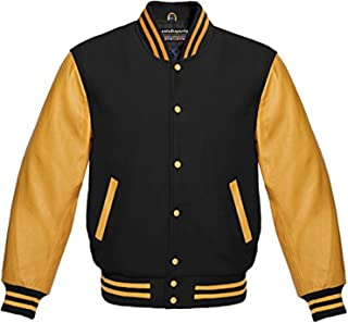 Premium New Letterman Baseball College School Varsity Jacket Wool Real Leather
