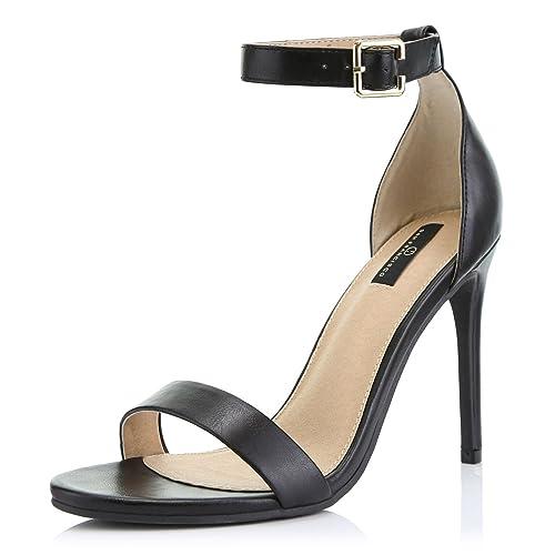 Damen Sandaletten Plateau Pumps Cut Out Stilettos High Heels
