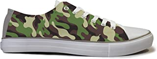 Rivir Latest & Stylish Printed Canvas High Top Sneakers Shoes for Men & Women- (Army Green Print)