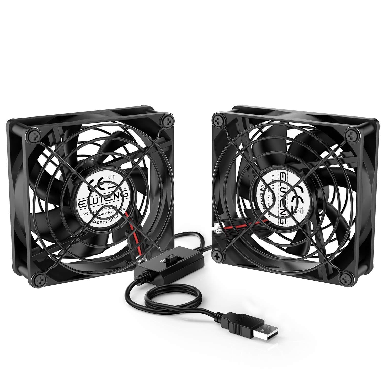 52Cfm Quiet Usb Dual 18Dba Receiver 80Mm Ac Infinity S5 Multi-Fan Pc Case Fan