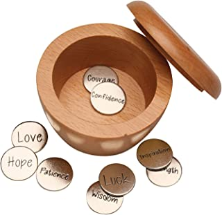 SIGNALS Take What You Need Wooden Box and Inspirational Coins