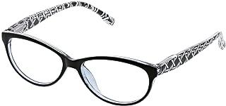 Peepers Women's Biscayne - Black/Multi 2408200 Cateye Reading Glasses, Black&Multi, 2.00