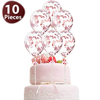 3 Count Cake Decorating SG/_B007TO3PUW/_US Primary Colors Multi Balloon Bouquet Cluster Cake Topper Decorative Picks